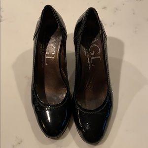 AGL Size 39.5 patent heels black